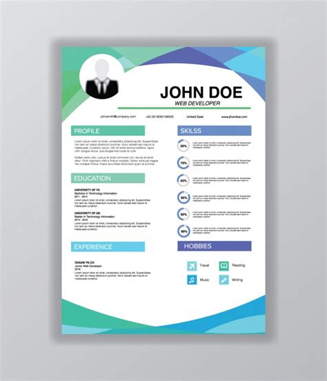 templates de curriculo para download curriculum vitae template vector gratis download