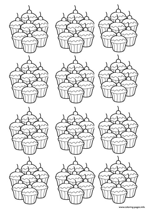 Hello Kleurplaat Cupcakes by Cupcakes Mosaique Coloring Pages Printable