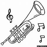 Trumpet Coloring Instruments Musical Brass Instrument Sheets Thecolor Preschool Patterns Trumpets Tattoo Drawings Printable Sheet Armstrong Colouring Louis Arts Crafts sketch template