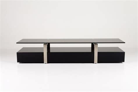 plasma tv table in black glass homestreet furniture
