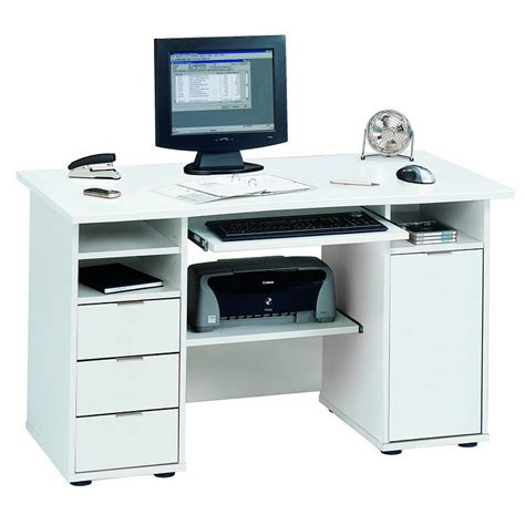 bureau pour ordi bureau pour ordinateur norrköpping blanc bon prix home24 fr