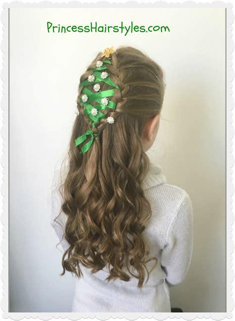 christmas tree hairstyle hairstyles  girls princess