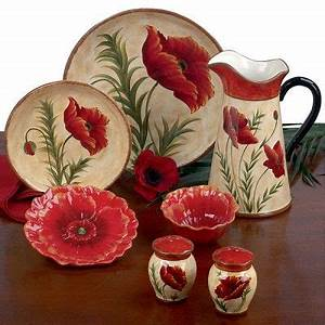 39 best images about dinnerware on pinterest With kitchen cabinets lowes with red poppy flower wall art