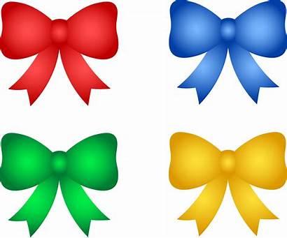 Ribbon Bows Clipart Clip Christmas Birthday Bow