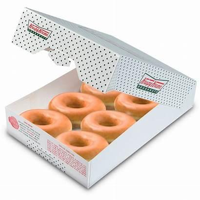 Krispy Donuts Dozen Half Glazed Doughnuts Dough