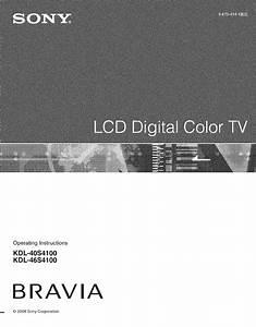 Sony Bravia 49x8500b Instruction Manual