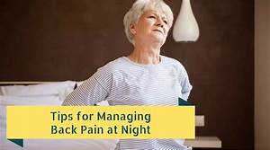 Tips for managing back pain at night twin cities spine for Back pain at night
