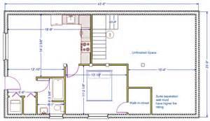 how to design a basement floor plan 1056 sqft 24 39 x44 39 b new