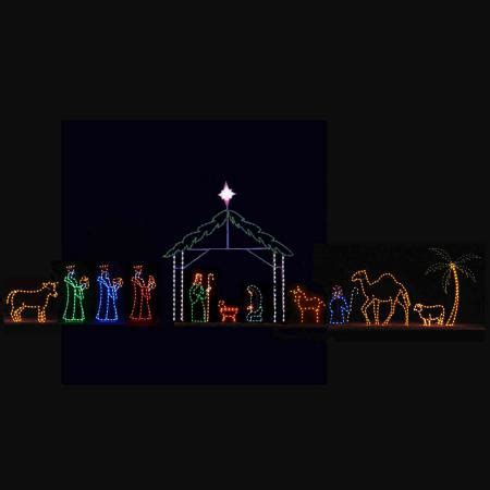 led nativity light display 13 piece c7 led 55 w