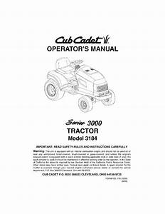 Cub Cadet Lawn Tractor Operators Manual  3184