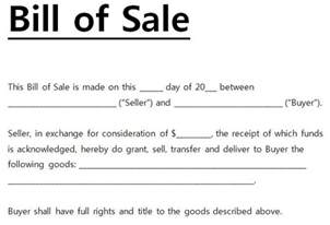 Bill Of Sale Template by Free Printable Bill Of Sale Templates Form Generic