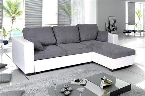 canape blanc d angle photos canapé d 39 angle convertible noir et blanc