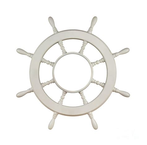 Sailboat Wheel Wall Decor by Wooden Sail Boat Wheel Photograph By Blink Images