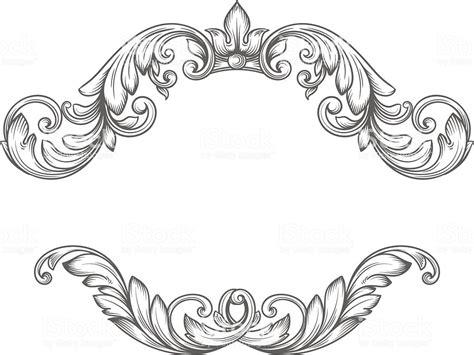 Vintage Label Frame Design Elements Stock Vector Art