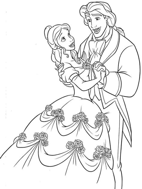 beauty   beast coloring pages printable