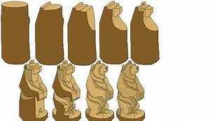 Free Whittling Patterns google step by step bear carving