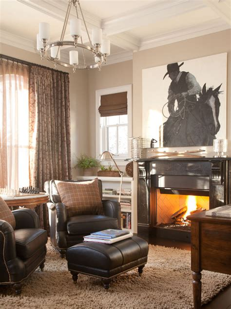 Chalet Interiors  Traditional  Home Office  Denver  By