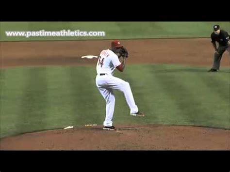 aroldis chapman slow motion pitching mechanics baseball