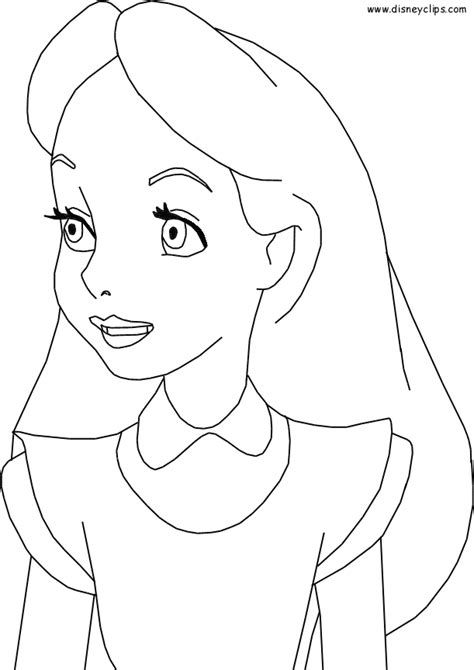alice  wonderland coloring pages getcoloringpagescom