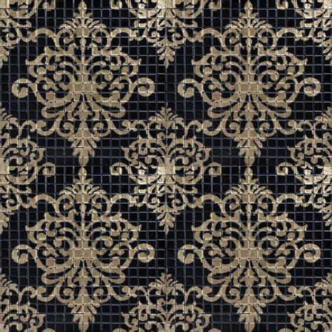 kitchen glass backsplash glass tile black puzzle mosaic tile hominter 1763