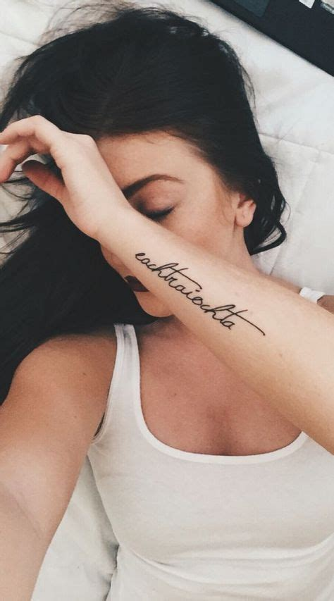 tattoo forearm girl quotes fonts ideas tattoos