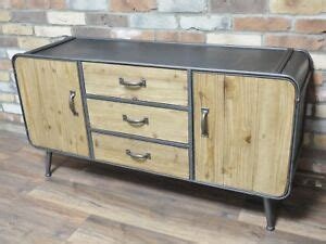 Metal Sideboard Cabinet by Retro Industrial Style Large Wood Metal Sideboard Vintage