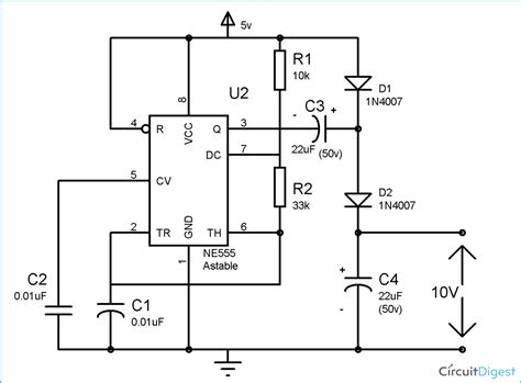 Circuit Diagram And Explanation by Voltage Doubler Circuit Diagram Electronic Circuit