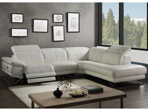 canap cuir blanc conforama canape angle cuir relax electrique 28 images canap 233