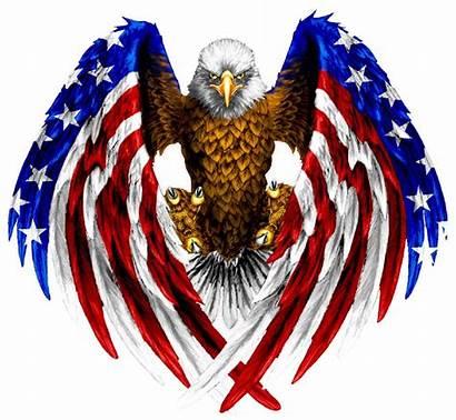 Eagle Flag American Bald Tattoo Wings Colored
