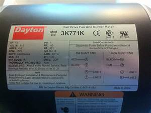 I Have A Dayton 1  2 Hp Electric Motor  Model 3k77ak  I