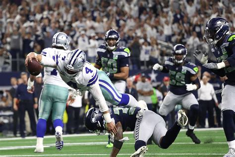seahawks  cowboys wild card  results top plays
