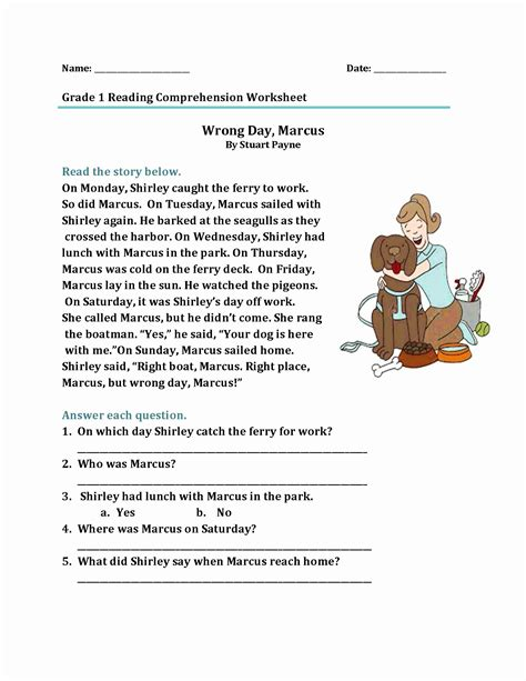10 texts with 40 multipe choice questions. Coloring Activities for 1st Graders (2020) | Reading ...