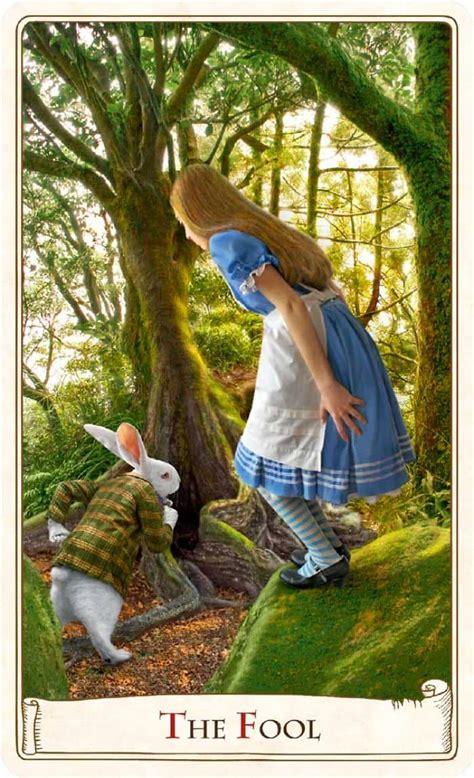 alice  wonderland tarot cards celebrate