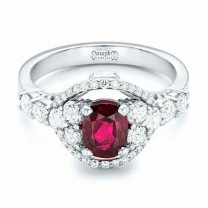 custom ruby and diamond engagement ring 102900 With diamond and ruby wedding rings