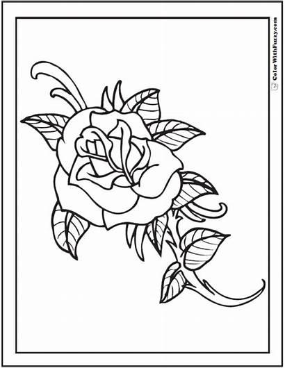Rose Coloring Pages Cool Simple Printable Rosebud