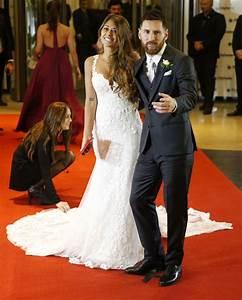 ANTONELLA ROCCUZZO with Lionel Messi at Wedding Reception ...