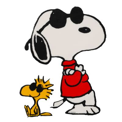 Joe Cool Snoopy and Woodstock