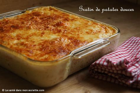 plat cuisiné au four gratin de patate douce
