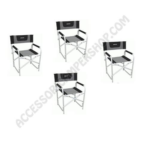 sedie regista alluminio kit quattro poltrone sedie regista midland grigio nero in