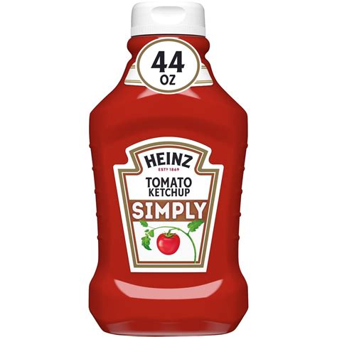 Heinz Simply Tomato Ketchup No Artificial Sweeteners, 44 ...