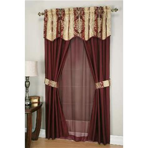 Family Dollar Curtain Rods by Cannon 6 Curtain Set Promenade Home Home Decor