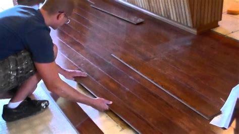 Installing  Floating Wood Floor Youtube