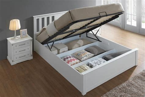 White Ottoman Bed Frame by Chester White Ottoman Storage Bed Frame 5ft King Size