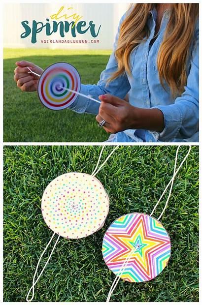 Paper Diy Spinner Fun Craft Summer Spinners