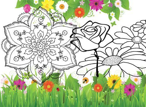 disegni di fiori da colorare e stare disegni con fiori fiori da colorare disegni da stare a