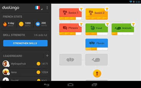 duolingo updated  google play brings tablet