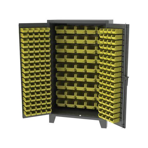 industrial storage cabinets with bins ex heavy duty storage bin cabinet workspacesandstorage com