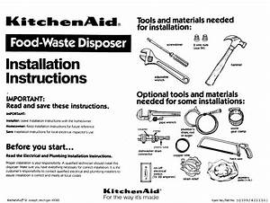 Kitchenaid Garbage Disposal Manual L0912158