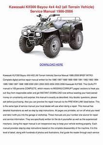 Kawasaki Klf300 Bayou 4x4 4x2 All Terrain Veh By Noreen