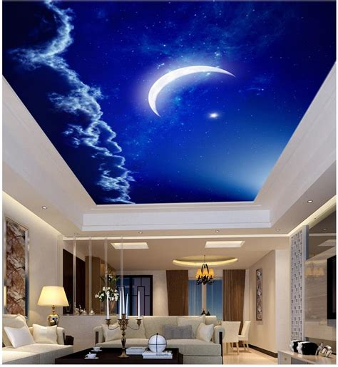 home decoration night sky ceiling month custom  photo
